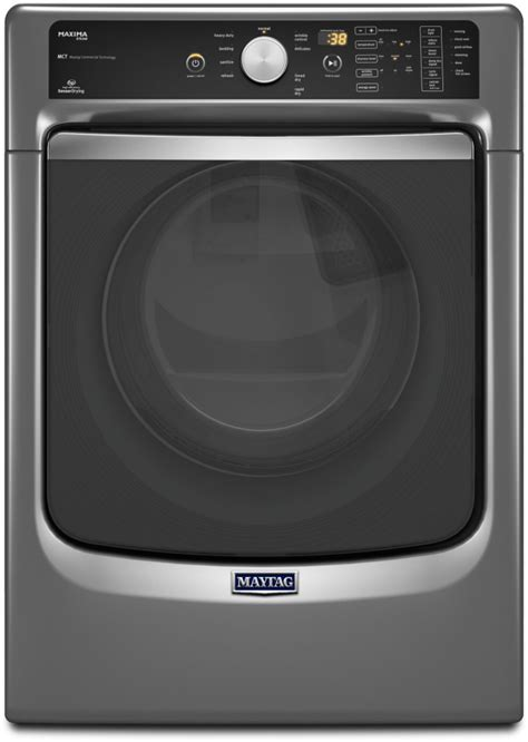 steam dryer static maytag med7100dc 27 inch 7 4 cu ft electric dryer with 9 drying cycles 5 temperature settings