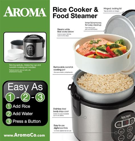 Rice Cooker Food Grade aroma rice cooker and food steamer arc 914sbd 8 cup