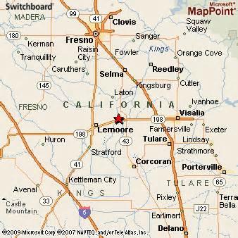 map of hanford california hanford california