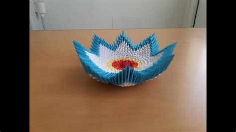 3d Origami Bowl - how to make 3d origami bowl tutorial origami bowl by are
