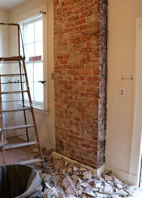 How To Remove Bricks From A Fireplace by How To Remove Plaster From A Brick Chimney Exposed Brick