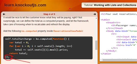 javascript knockout tutorial function knockout tutorials quot this quot property binding