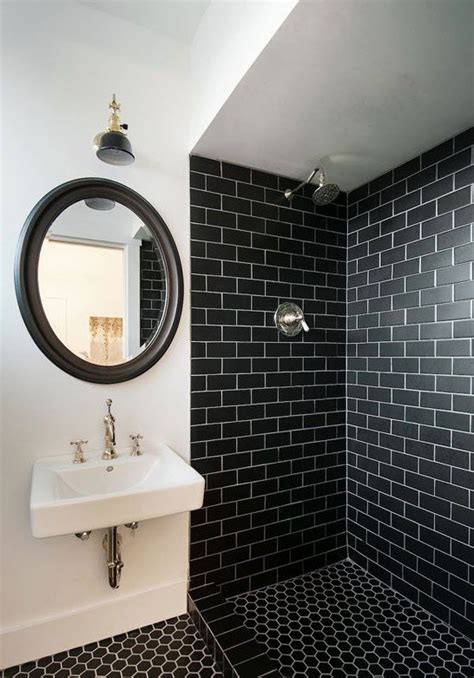 34 black bathroom tile ideas and pictures 30 black and white bathroom wall tile designs ideas and