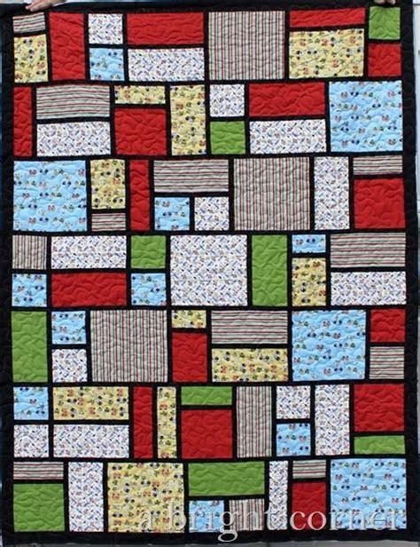 Sashing Quilt Blocks by Jacks Blocks Quilt With Black Sashing Quilting