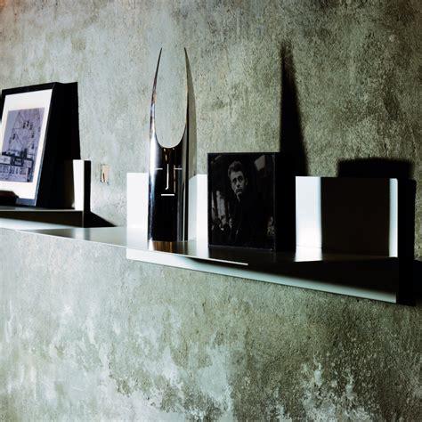 mensola a muro mensola a muro linea in acciaio 100 cm bianco nero grigio
