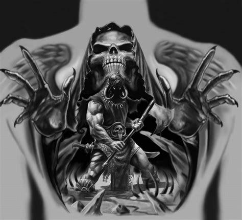 sch 228 del tattoo totenkopf sch 228 del tattoo auf dem r 252 cken