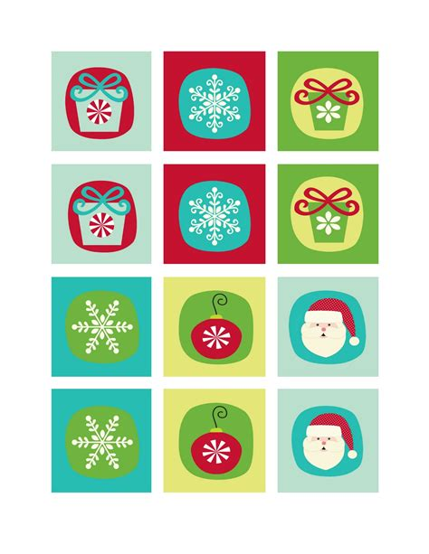 printable memory games 9 best images of printable christmas memory game