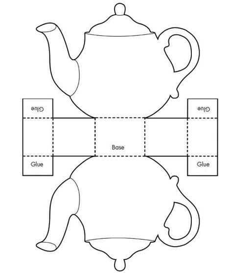 How To Make A Paper Teapot - 3d teapot template printable templatezet