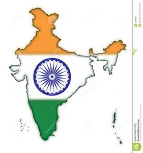 India Outline Map Coloured by Map Of India Flag Concept 1 Royalty Free Stock Image Image 4938086