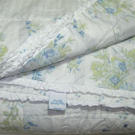simply shabby chic blue patchwork garden stripe twin set