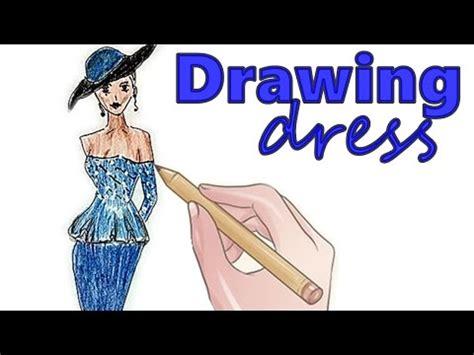 cara menggambar anime wanita cantik fashion illustration floral dress roses by
