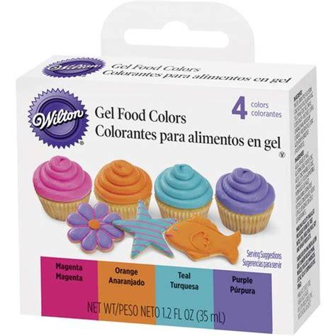 wilton food coloring bright gel food color set wilton