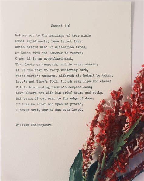 Wedding Anniversary Quotes William Shakespeare by Best 25 Poems Wedding Ideas On Wedding
