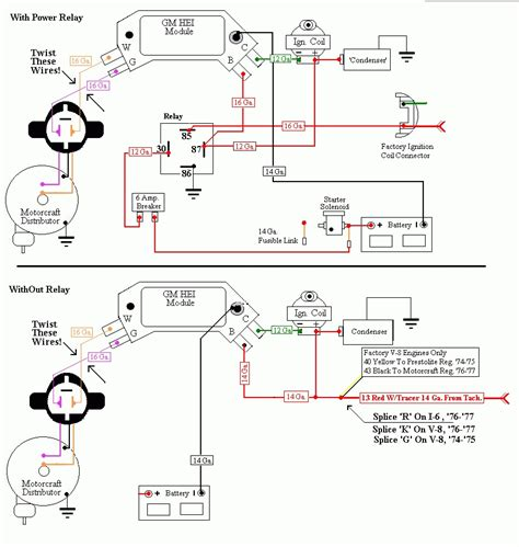 wiring diagram for chevy hei distributor wiring diagram