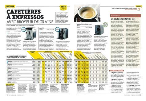 Machine A Cafe Comparatif 4007 by Jura Prim 233 Par Ufc Que Choisir Des Caf 233 S Pfaff