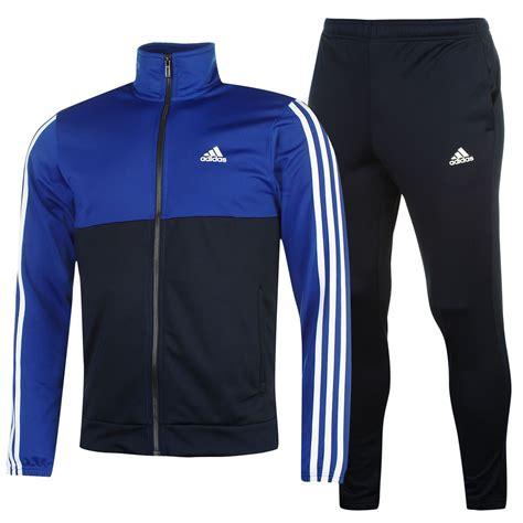 adidas tracksuit adidas mens 3s basic poly tracksuit stripe sports jacket