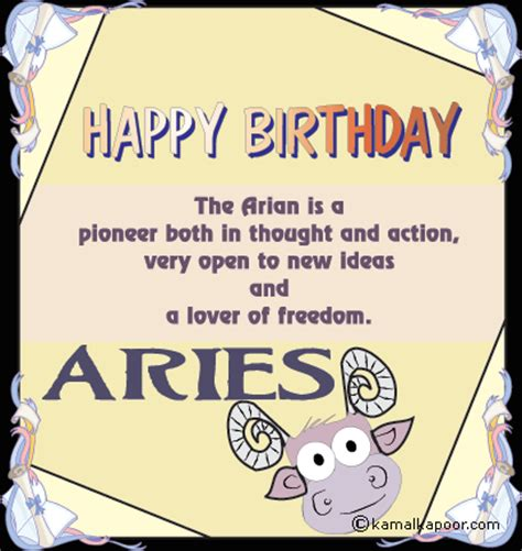 Aries Birthday Cards Astrology And Palmistry Portal Happy Birthday Aries