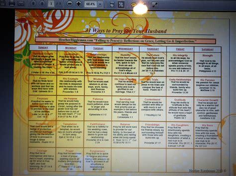 ways pray husband printable calendar