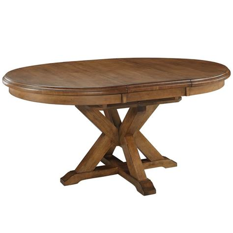 Pedestal Dining Tables With Extension pecan extension pedestal dining table