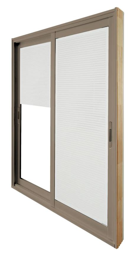 60 Patio Door Stanley Doors 60 Inch X 80 Inch Sandstone Sliding Patio Door With Mini Blinds