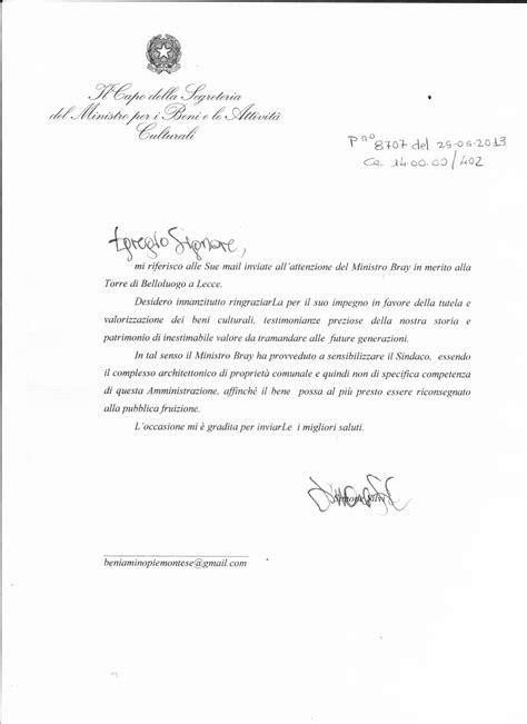 lettere di ringraziamento formali messapi info archivio