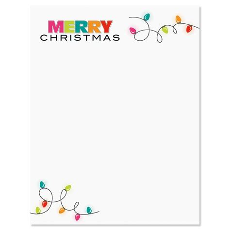 Christmas Lights Christmas Letter Papers Current Catalog Merry Letter Template
