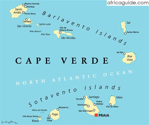 cape verde islands map cape verde cabo verde travel guide and country information