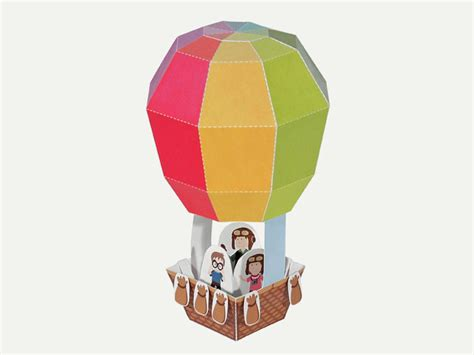 Make A Air Balloon Out Of Paper - 3d air balloon paper toyhood store