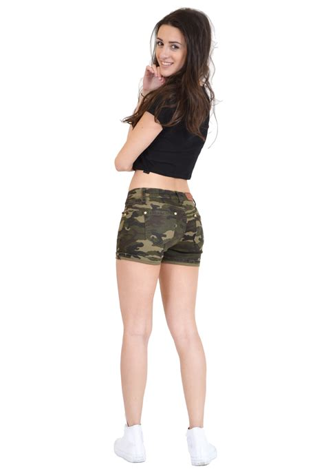 Hotpants Hotpant Army new womens army green camouflage fitted