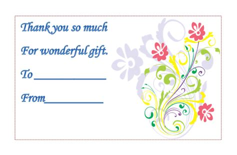 Word Template For Thank You Card by The Gallery For Gt Free Thank You Card Templates For Word
