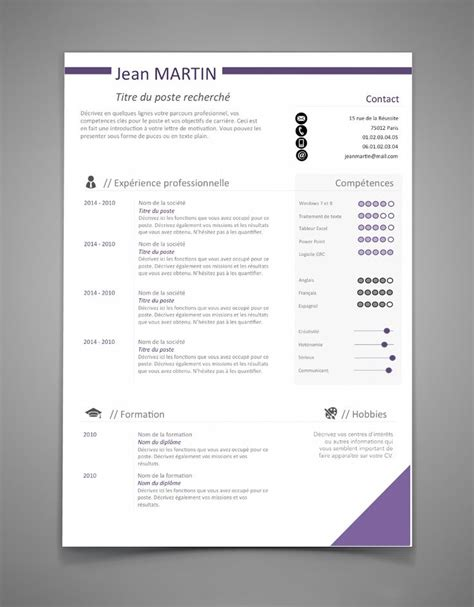 model cv professionnel word gratuit 25 best cv gratuit word ideas on pinterest modele cv
