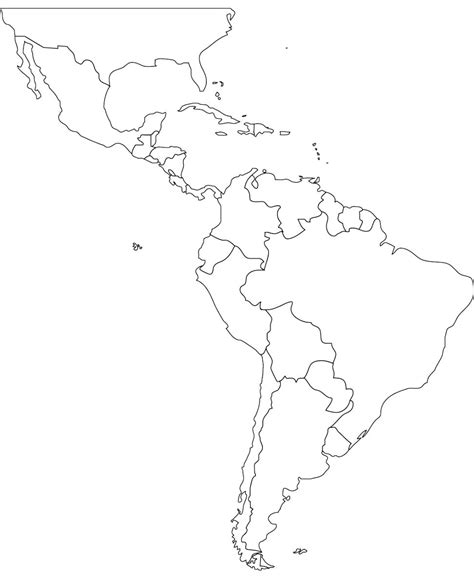 America South America Map Outline by America Map Blank Roundtripticket Me