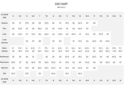 bike shoe sizes cc womens shoe size vs brand chart in the cycling