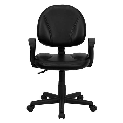 ergonomic home ergonomic home mid back black leather ergonomic swivel