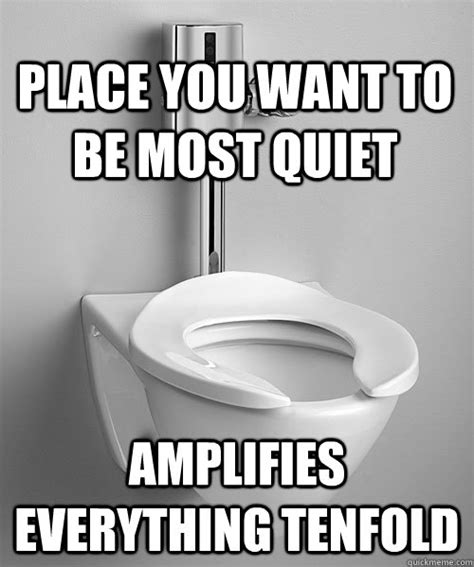 Toilet Meme - place you want to be most quiet lifies everything