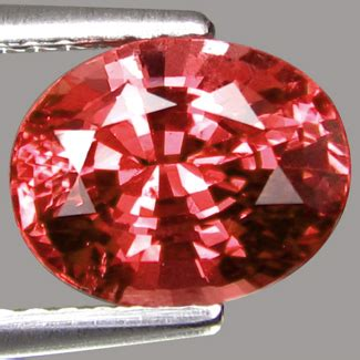 Orangy Pink Padparadscha Spinel 741 all that glitters gemstone photographs spinel