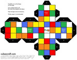 How To Make A Paper Rubik S Cube - rubik s cube template search totally 80 s