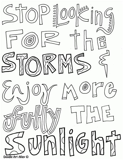 printable doodle quotes doodle art alley all quotes coloring pages coloring home