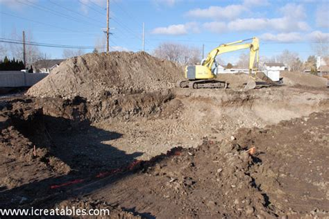 digging a basement layout home site to excavate icreatables