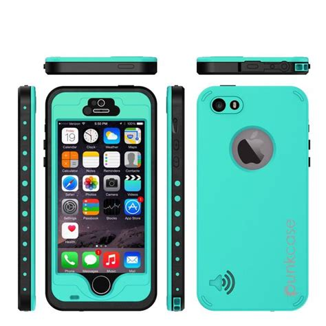 punkcase studstar teal apple iphone  waterproof case