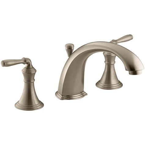 kohler bathtub faucet kohler devonshire 2 handle deck mount roman tub faucet