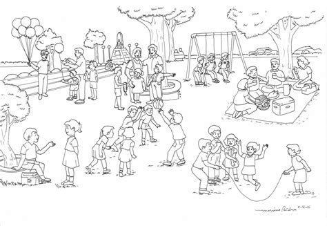 playground coloring pages the images collection of playground equipment