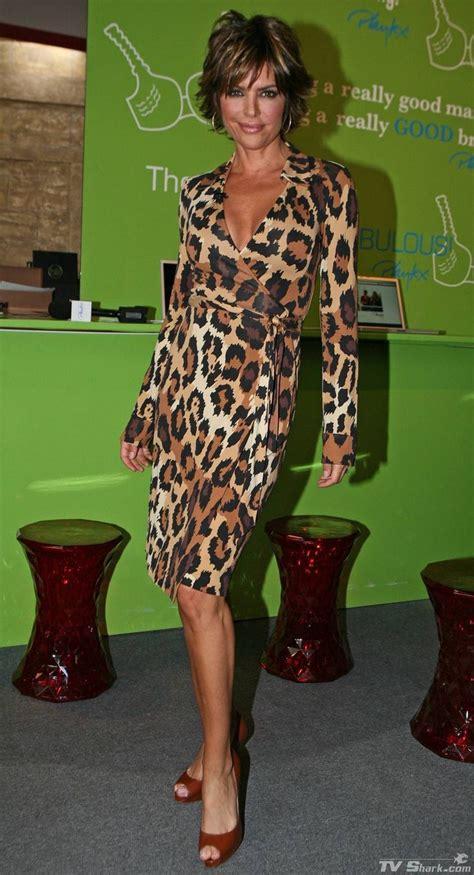lisa rinna dress dvf leopard jeanne wrap lisa rinna my style pinterest