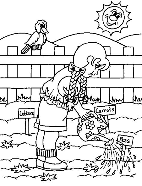 garden hoe coloring page spring gardening coloring page for kids coloring pages