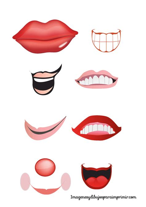 printable eyes and mouth 9 best images of printable mouths for crafts printable