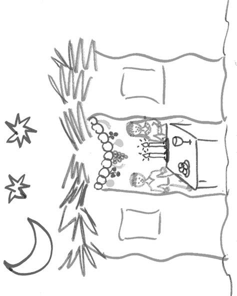sukkah coloring page sukkot ideas traditions