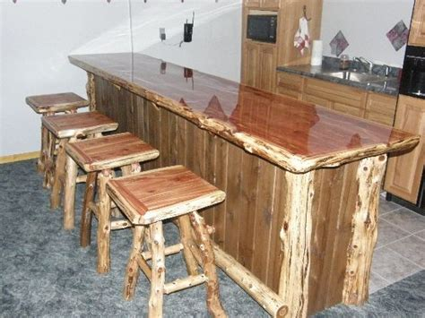 log bar tops eastern red cedar quot wrap around quot log bar with black ash t g