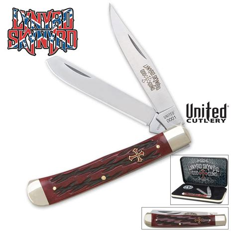 pocket knife box lynyrd skynyrd god guns trapper pocket knife box set