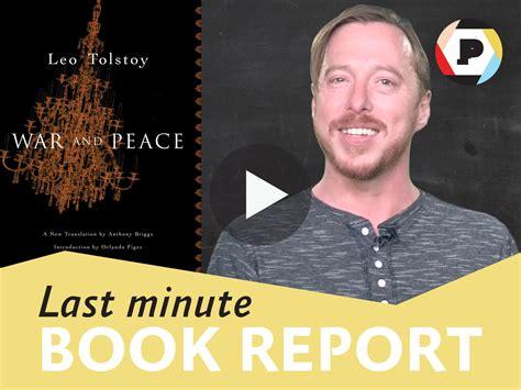 last minute book reports last minute book report war peace read it forward