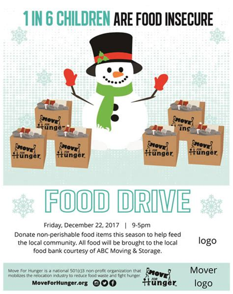 start a food drive move for hunger move for hunger